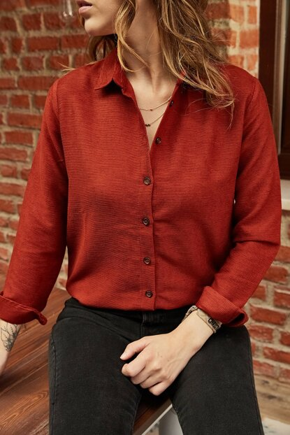 Women's Tile Velvet Shirt 9YXK2-41964-16