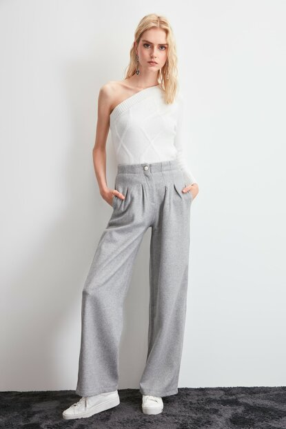 Gray Goose Leg Pants TWOAW20PL0044