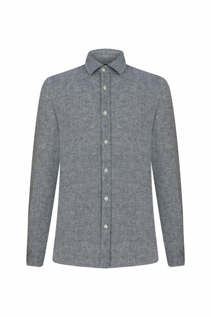 Men's Indigo Regular Woven Shirt 328266