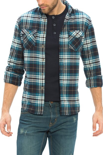 Men's Oil Plaid Shirt 6K6298Z8