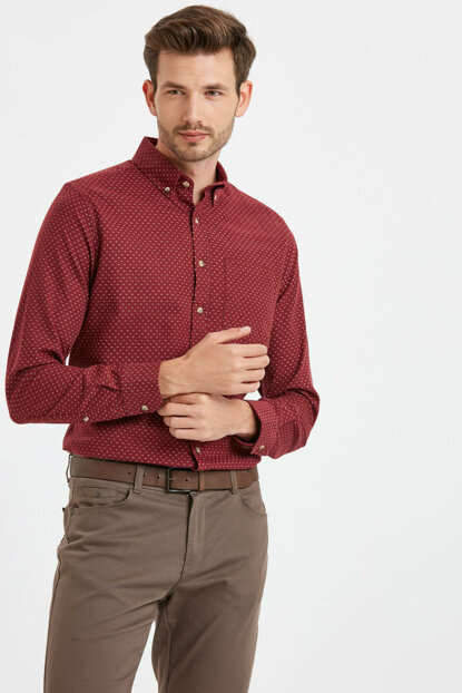 Men's Burgundy Shirt 8W7458Z8
