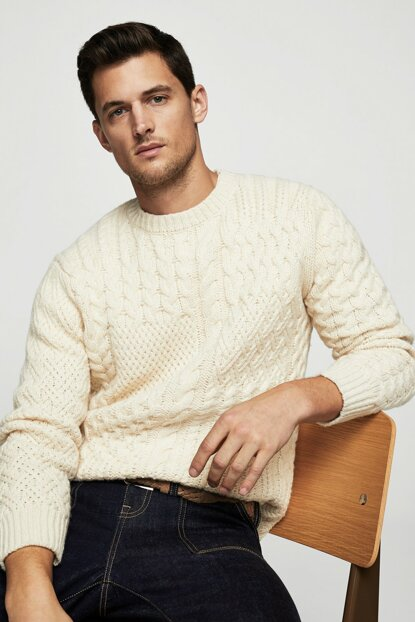 Men's White Sweater 13079034