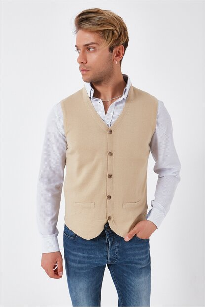 Sleeveless Men Sweater Vest KW10043