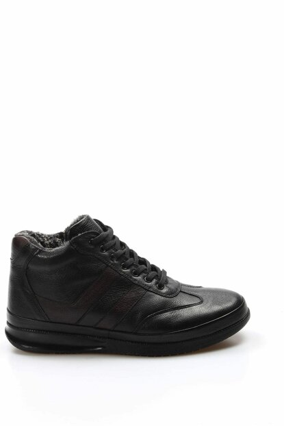 Genuine Leather Black Men Sneaker 2095609 1850023