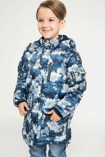 Removable Hooded Camouflage Patterned Parka J1898A6.18CW.BE480