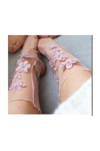 Flowerdreampinktulle TulleSocks-Pink1