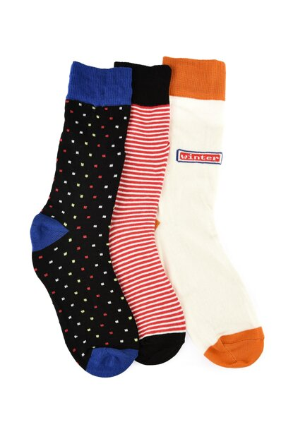 Multicolor Mixed 3 Pack Socks TMNAW20CO0038