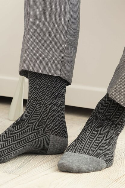 Charante Bamboo Socks for Men - Gray 1KCORP0167-8682116129763