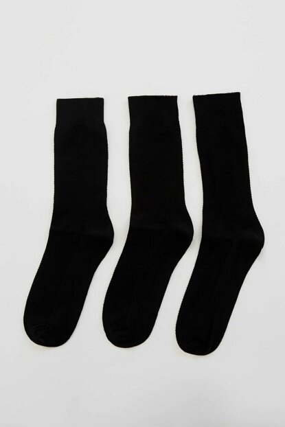 Men's Black Long 4s Socks L5961AZ.19AU.BK23