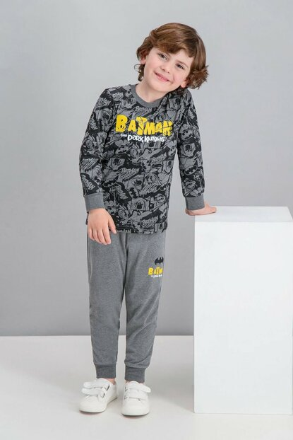 Licensed Dark Gray Baby Boy Pajamas Set L1035-C