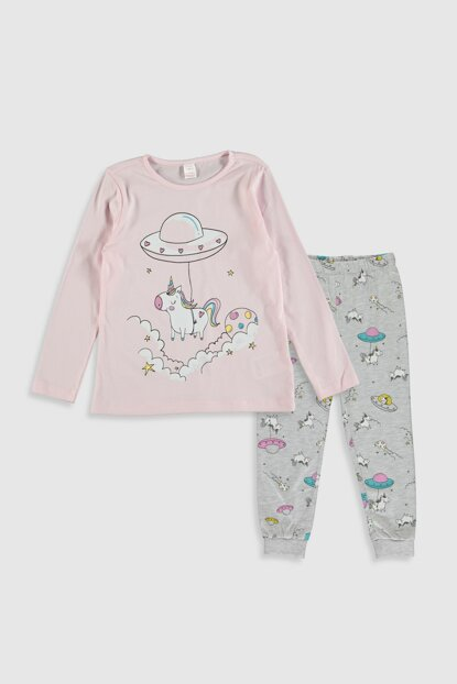 Girls' Light Pink Fww Pajamas Set 0S1380Z4