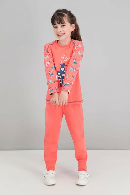 My Deer Pomegranate Girl Kids Pajamas Set RP1548-C