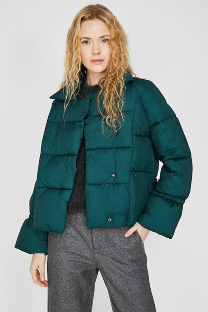 Women's Green Coat 9KAK23725GW