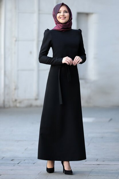 Women's Black Belted Dress 2004