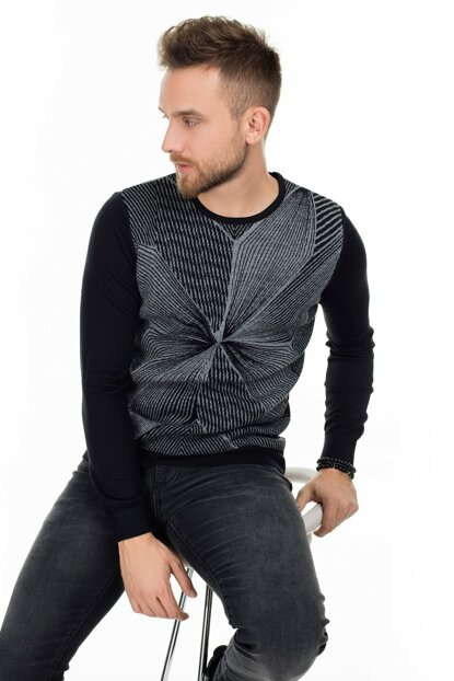 Men's Geometry Pullover Black 112090025100100