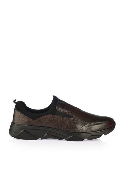 Genuine Leather Coffee Men Casual Shoes 02AYY162350A480