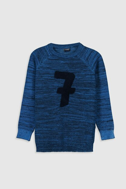 Boys K.Navy Blue Pullover 9WV026Z4