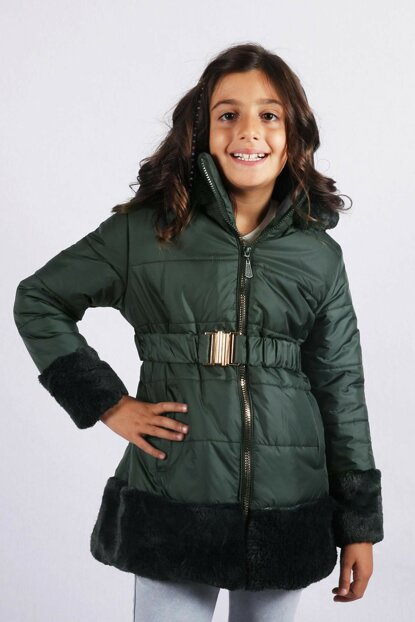 Children's Club 7--10 Age Girl Kids Coat Coat Khaki Color copy87512