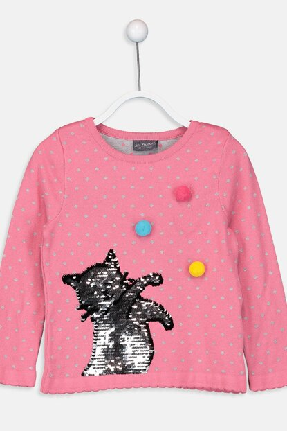 Girl Medium Pink Gur Sweater 9W5022Z4