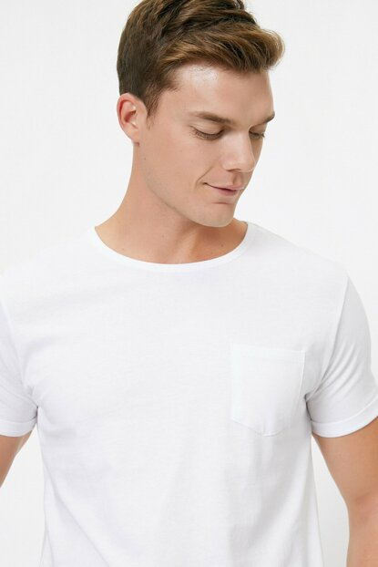 Men's White T-Shirt 0YAM12317LK