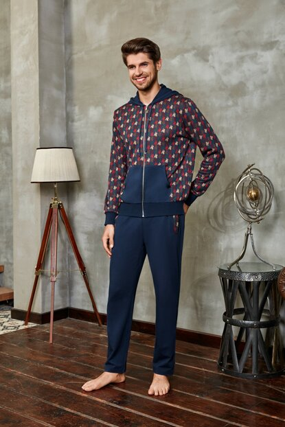 Men's Navy Blue Pajama Set 4629