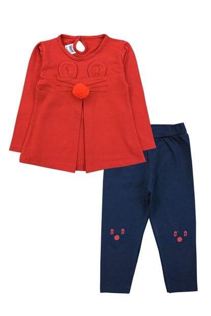 RABBIT DETAIL TSHIRT AND PANTS SET-19817 F0858