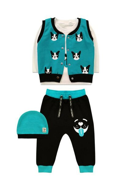 Dog Detailed Tshirt, Pants, Hats and Vest Team-2233 F0442