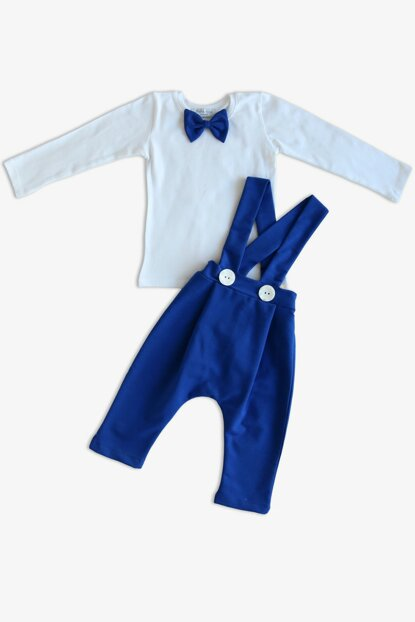 Boys' Saks Harem Pants Suit / BLUE / 9-12 A TKM-0080