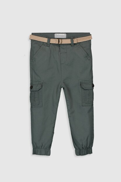 Baby Boy Matte Green Q16 Pants And Trousers Hanger 9WS444Z1