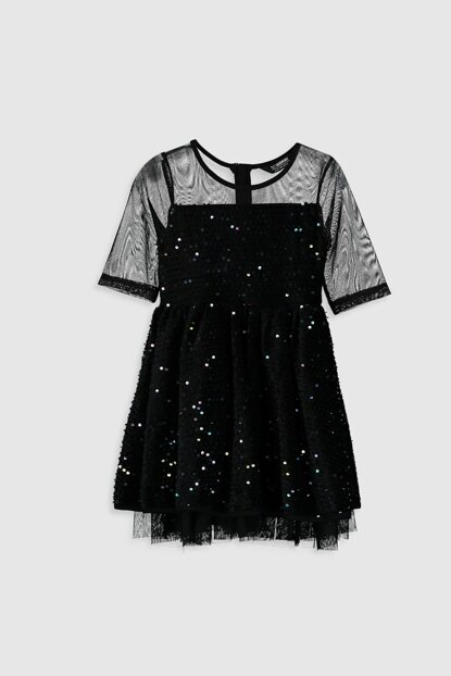 Girls' New Black CVL Dress 9WG797Z4