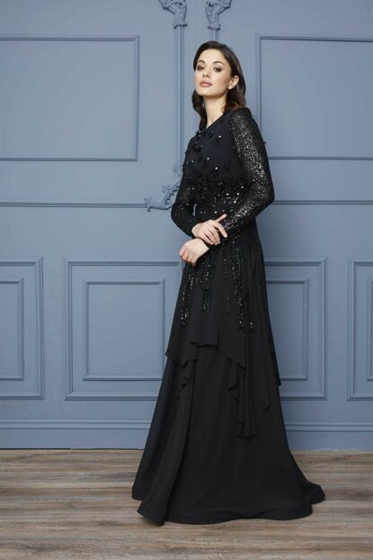 Women's Black Evening Dress 1913616-205