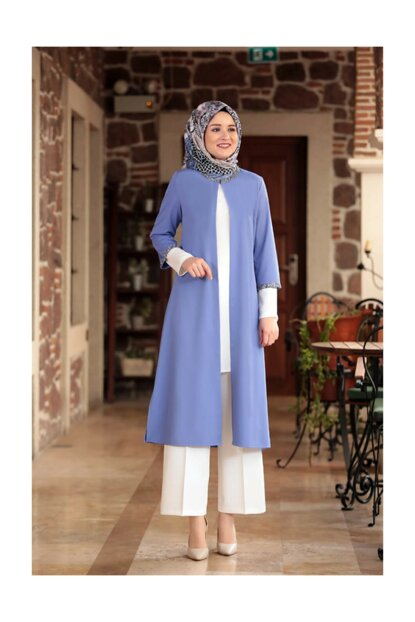 Triple Hijab Set Baby Blue AHM371