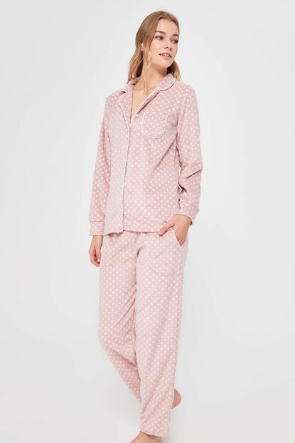 Powder Polka Dot Pajamas Set THMAW20PT0289 THMAW20PT0286