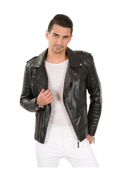 Bodo Men Leather Jacket 03KD01S-BODO-501
