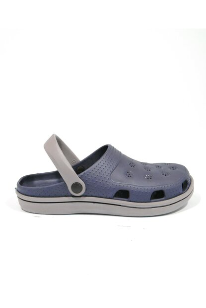 Navy Blue Gray Men's Slipper E250.M.000