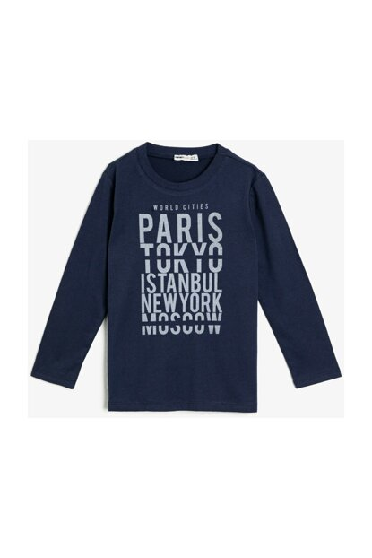 Navy Blue Children's T-Shirt 0YKB16959OK