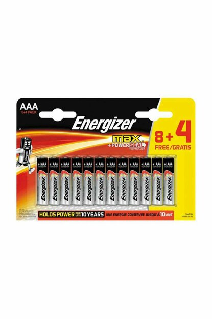 Alkaline Max Power Seal 8 + 4 AAA Thin Battery 7638900422849
