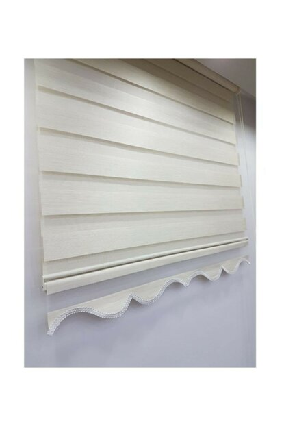 Bamboo Cream Zebra Curtain Skirt Sliced Zb982 240x200 LCRCNCPT00007764