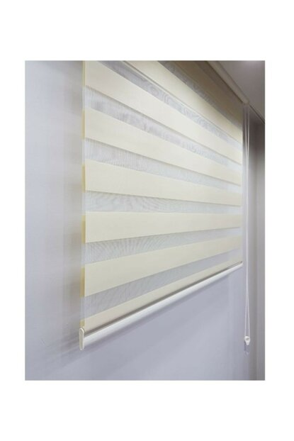 Sdney Cream Zebra Curtain Skirt Sliced 220x260 LCRCNCPT00007765