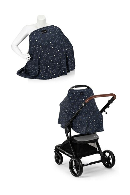 EleleLife Functional Pushchair and Breastfeeding Cover with Heart EL19MELLFEMZORTTR5