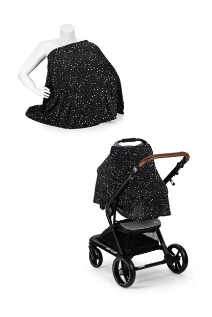 EleleLife Functional Pushchair and Breastfeeding Cover with Stars ELL-ORT-651