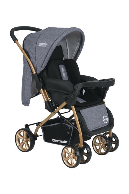 Tommybaby TB-700 Gold Double Direction Luxury Baby Stroller Pushchair TB-700-01