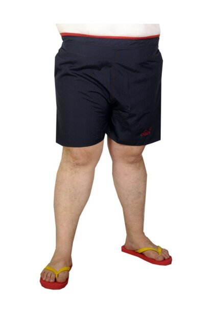 Plus Size Men's Beach Shorts 19573 Navy Blue 19573lac-4XL View larger image
