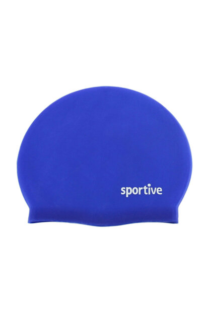 Unisex Bathing Cap & Sea Goggles - Silicone Blue Swim Beanie - 453070204S