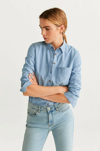 Women's Blue Denim Shirt 57087691