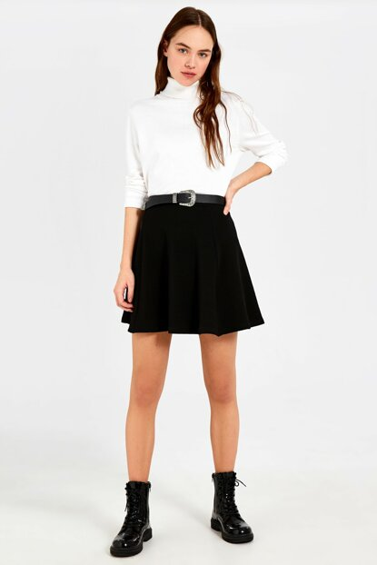 Women's New Black Skirt 0S9634Z8