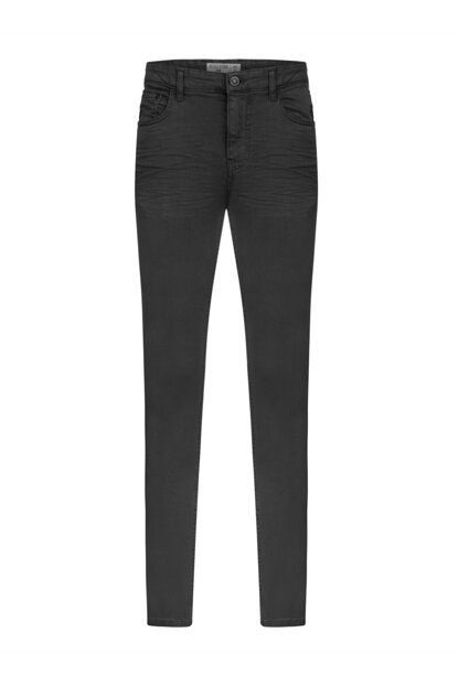 Men's Black Slim Fit Cotton Trousers 349260