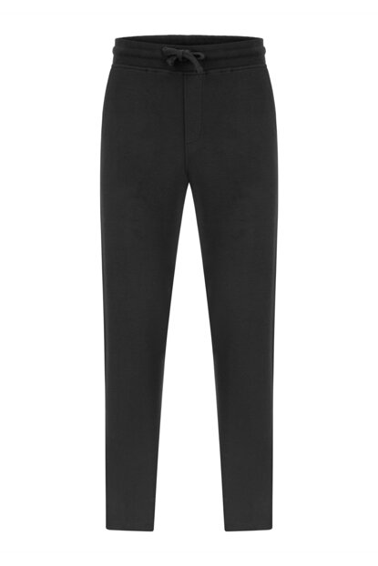 Men's Black Straight Relax Straight Pants 356902