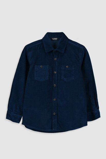 Boys Outdoor Navy Blue Heu Shirt 9W3311Z4
