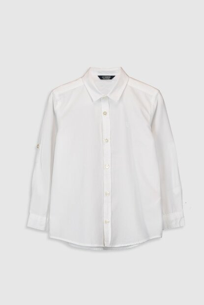 Boy Shiny White JYX Shirt 0S0893Z4